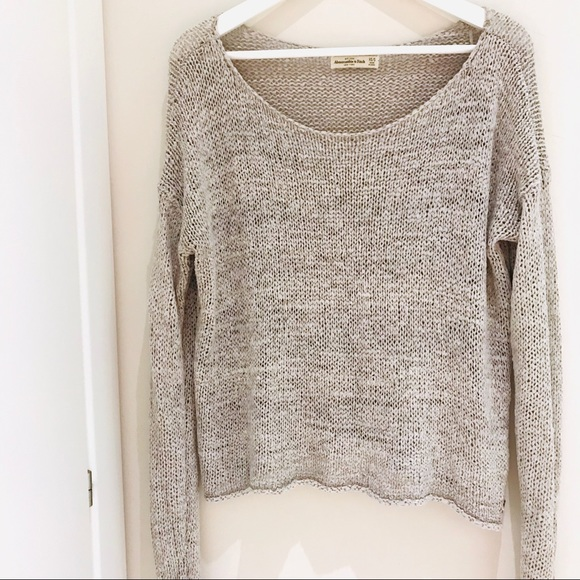 Abercrombie & Fitch Sweaters - SOLD Abercrombie Slouchy Scoop Sweater Size XS/S